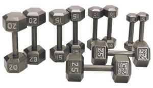 iron hex dumbbell